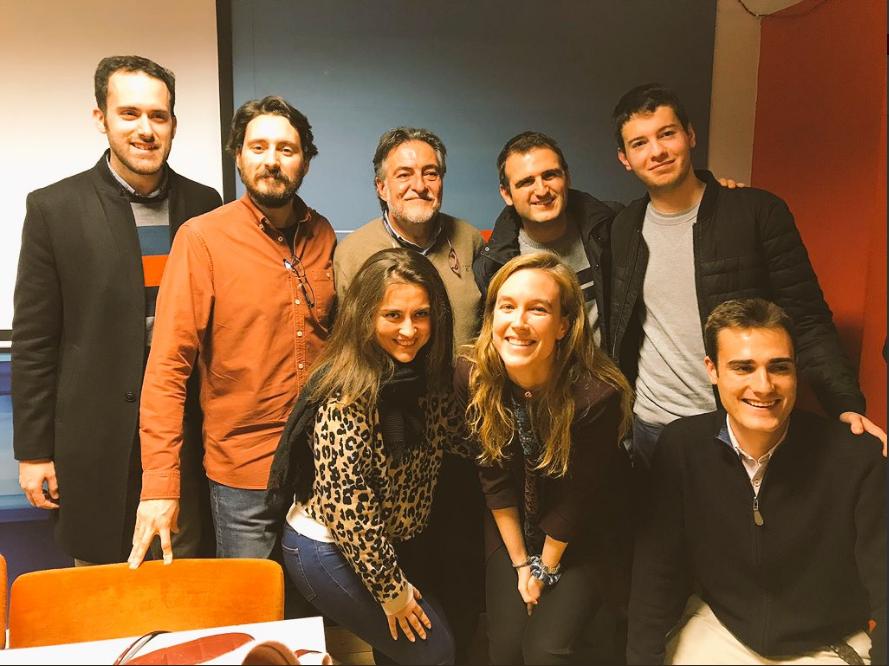 #PepuAlcalde con jóvenes y militantes en la sede del PSOE Chamberí. @JóvenesconPepu