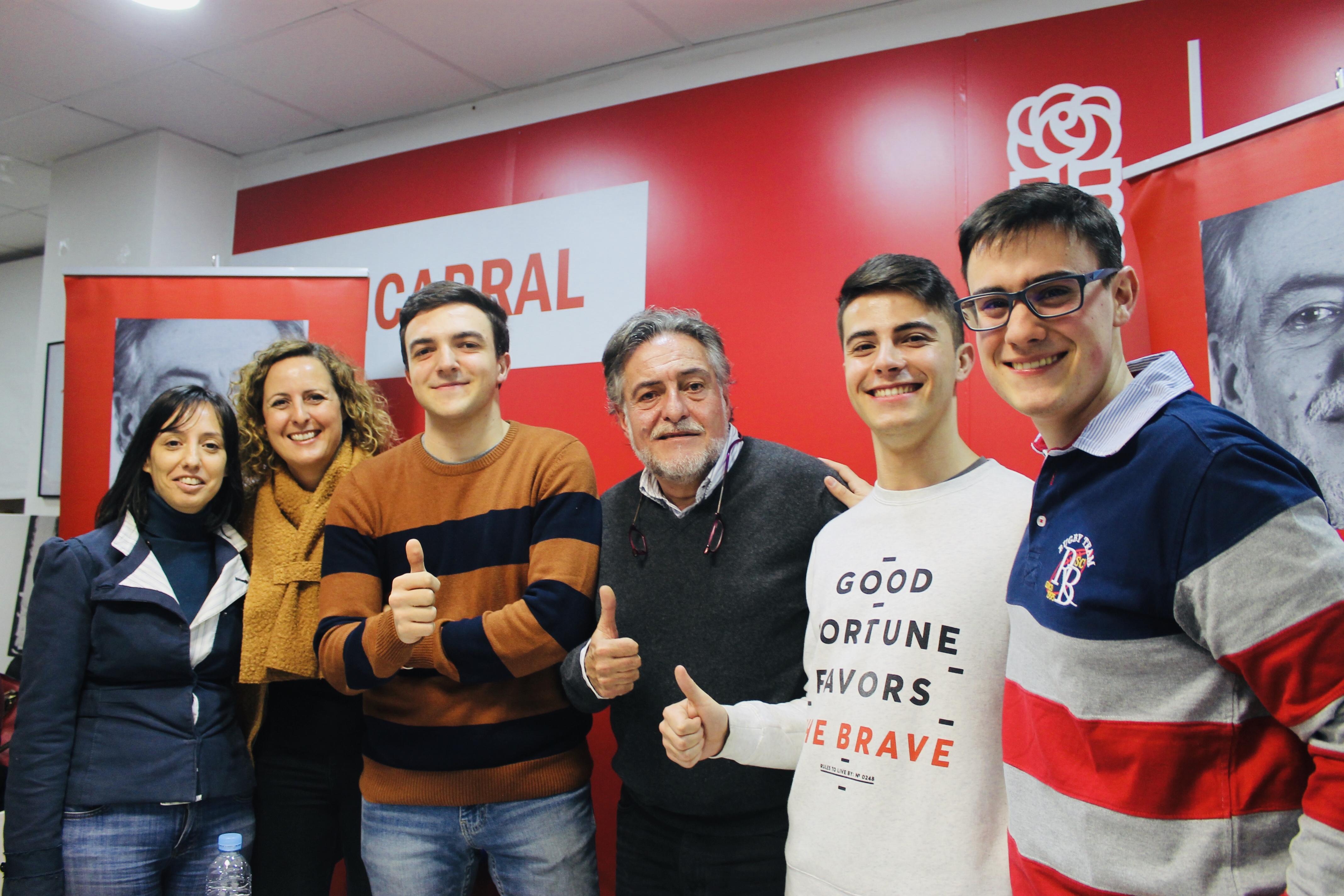 #PepuAlcalde con jóvenes y militantes en la sede del PSOE Fuencarral-El Pardo. @JóvenesconPepu