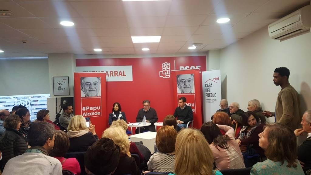 #PepuAlcalde visita PSOE Fuencarral-El Pardo reuniéndose con militantes.