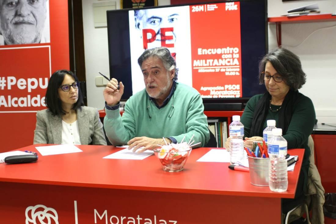 #PepuAlcalde habla en PSOE Moratalaz de dignificar la política.