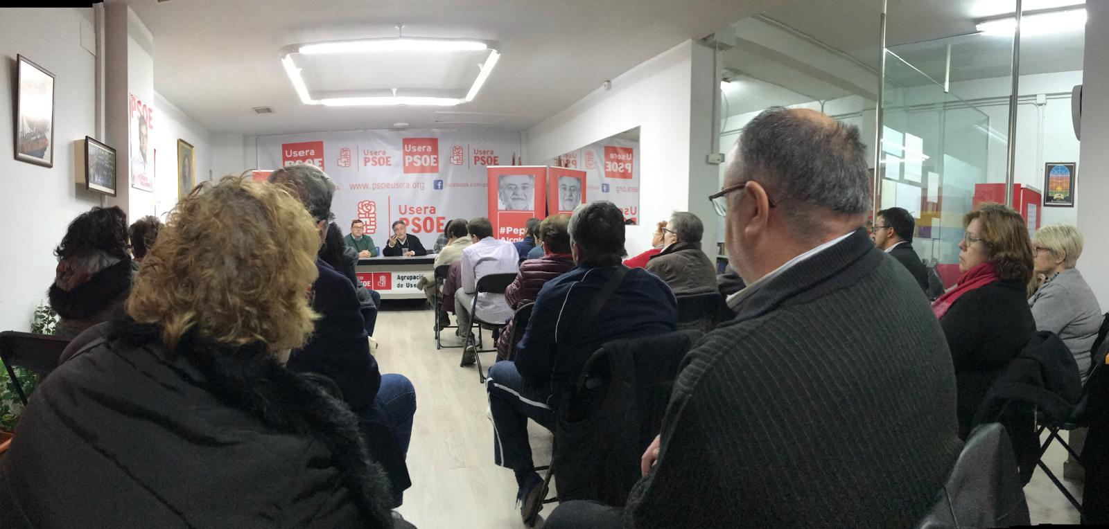 #PepuAlcalde se reúne en PSOE Usera con militantes.