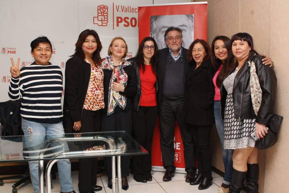 #PepuAlcalde con vecinas y militantes en la sede del PSOE Villa de Vallecas.