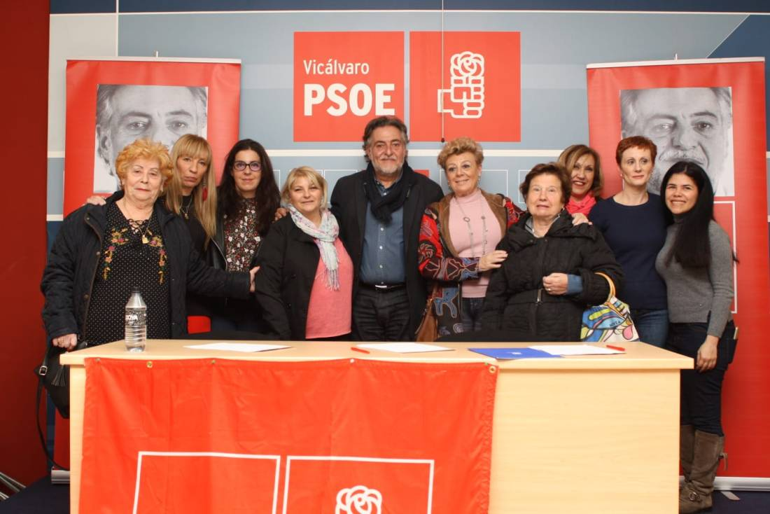 #PepuAlcalde se reúne con vecinos y militantes en Vicálvaro