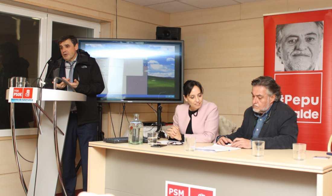 #PepuAlcalde se reúne con vecinos y militantes en PSOE Buenavista en distrito Salamanca.